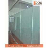 China Frosted Glass Modern Office Partitions Easy Installation For Commercial on sale