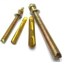 Quality Electroplated Chemical Concrete Anchor Bolts M24 For Highway Fencing for sale