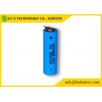 ER14505 Size AA 3.6 V 2.4Ah Lithium Thionyl Chloride AA Battery With Tabs