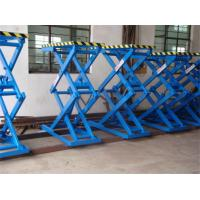Buy Blue Fixed Hydraulic Scissor Car Lift 10000 kg Load For Equipment Installations at wholesale prices