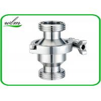 Quality Hygienic Grade Sanitary Check Valve With Male Thread Connection , High Sealing Function for sale