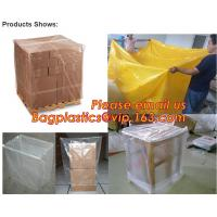 Quality Plastic reusable thermal pallet cover, Heavy Duty Waterproof Pallet Cover Tarp, LLDPE Elastic Pallet Packaging Bag Cover for sale