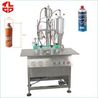 Quality Butane Gas / LPG Gas Filling Machine , Stainless Steel Cartridge Filling Machine for sale
