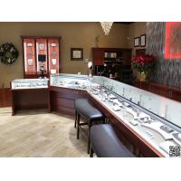 Buy cheap Wonderful jewellery shop interior design jewelry display showcase MDF jewelry showcase from wholesalers