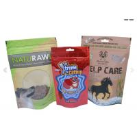 Quality Stand Up Pouch For Pets Food Packaging , Plastic Zipper Pouch For Dog / Fish / Bird / Cat for sale