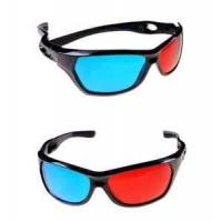 Buy cheap Fashionable Black Frame Red Blue 3D Glasses For Dimensional Anaglyph Movie Game from wholesalers