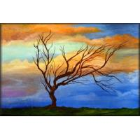 Quality abstract painting tree design wall decor for sale