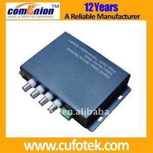 4 channel CCTV fiber optic transceiver