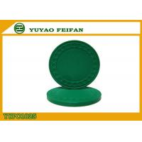 Quality One Color Diamond Light Clay Poker Chips 8 Grams With Soft Feeling 40 * 3.3mm for sale