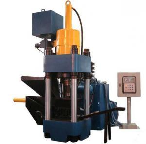 Quality High Efficiency Metal Briquetting Press Machinery / Hydraulic Sawdust Briquette Press for sale