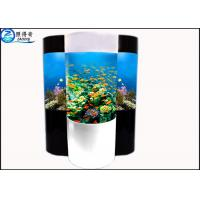 Quality Cylindrical Acrylic Aquarium Custom Fish Tanks With Super Translucent Material for sale