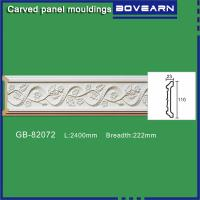 Buy cheap Polyurethane carving wall Mouldings/ Chair rails/ white primed color customized OEM accepted from wholesalers