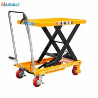 China 500kg Load Capacity Manual Scissor Lift Table With Convenient Foot Pump on sale
