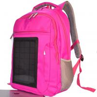 Quality Pink Womens Hiking Solar Charging Backpack With Charger Built In for sale
