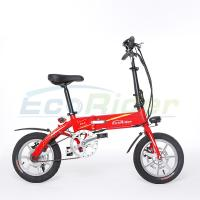 Quality EcoRider 36v 7.2ah lithium battery  250w brushless 2 wheel foldable electric bicycle with Folding pedals for adults for sale