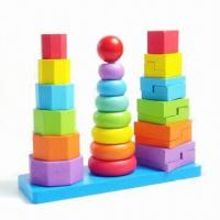 Quality Wooden Toys/Puzzles with Colorized Brick and Bead for sale