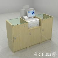 Quality supermarket checkout counter equipment,shop cashier counter for sale for sale