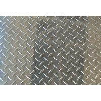 Quality Thickness Coated Aluminum Checkered Sheet , Roll Embossed Aluminum Plate For Insigns for sale