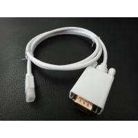 Buy Mini Displayport To VGA Cable Adapter For Computer / Monitor / Projector 1080P@60Hz at wholesale prices