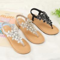 China Synthetic Sole Flip Flops Sandals Slippers Fabric Upper Material Easy To Use on sale