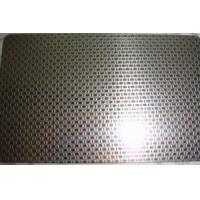 China SS 316L Grade Etching Stainless Steel Sheet Metal With Surface Linen Pattern on sale