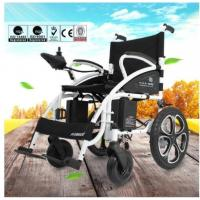 Quality 6009 Light Weight Electric Folding Wheelchair For Elderly with Steel Material for sale