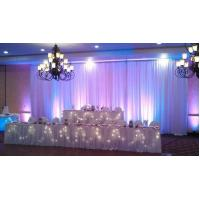 Quality High Quality Adjustable Pipe And Drape For Wedding Event Backdrop for sale