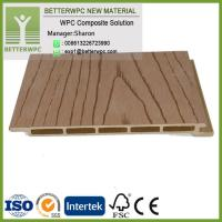 China Hot Insulation Waterproof Fireproof Exterior Wood Plastic Wall Panel 3D Wood Grain Decorative WPC Wall Cladding on sale