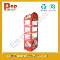Foldable Cardboard Floor Display Stands , Candy Display Racks