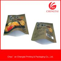 Quality 65 micron bag packaging chips and  three side seal bag with matt material for sale