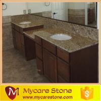 Quality Fast delivery giallo ornamental double granite bathroom, vanity top for sale