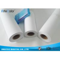 """Quality 42"""" / 44"""" Matte Coated Inkjet Paper Rolls Wide Format Printing Anti Fading for sale"""