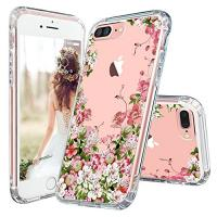 Floral Print Clear Apple Cell Phone Cases Transparent Plastic With TPU Bumper