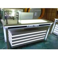 Quality Attractive Lighted Jewelry Display Case Fully White Lacquer Color Surface for sale