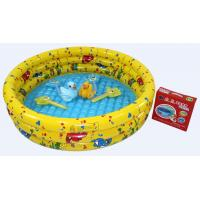 Quality Yellow Inflatable Swimming Pools , Plastic Air Bath Pool For Kids for sale