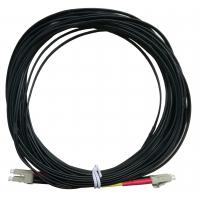 Quality OPTOSTAR Black Fiber Optic Jumper LC/APC to LC/APC Optical Cable LSZH Jacket for sale