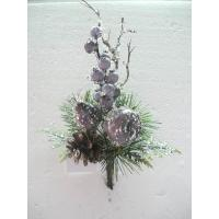 Quality Christmas Silk Floral Arrangements Artificial Decorative Flowers and Plants with Fruits for sale