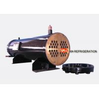 China 122KW Industrial Shell And Tube Water Cooled Condenser , Refrigerator Condenser Tube on sale
