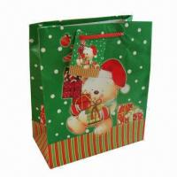 Buy cheap Christmas/Promotional Printed Paper Bag, Suitable for Gifts/Packaging, Available from wholesalers