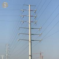 Quality Dodecagon Electrical Steel Utility Pole Hot Dip Galvanized 32m 110FT for sale