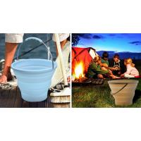 Quality 7L Blue Camping Silicone Collapsible Bucket For Outdoor Picnic , Camping for sale