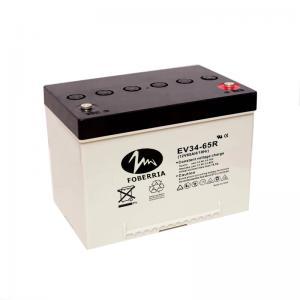 Quality EV34 50.5Ah EV Lead Acid Batteries 12v 65ah 20hr Car Battery For Golf Buggies for sale