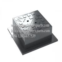China High Security Locking Design Heavy Duty Ductile Iron D400 Double Triangular Surface Boxes From China on sale