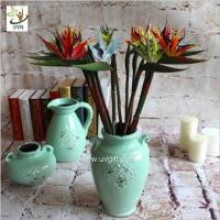 Buy UVG FBP112 uk PU plastic artificial strelitzia reginae beautiful flower bouquet for party decoration at wholesale prices