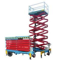 Quality Hydraulic Self Propelled Work Platform , Window Cleaning Electric Scissor Lift for sale