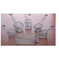Quality Mini Perforated Baking Tray Wire Mesh Deep Fat Fryer French Fries Holder Basket for sale