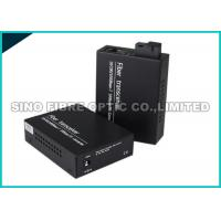 Quality SC Duplex Fiber Optic Media Converter 25km 10 / 100Mpbs 1804 ft Transfer Distance for sale
