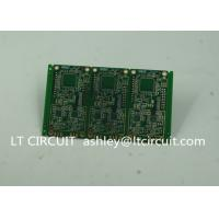 Buy 6 Layer Green Printed Circuit Board FR4 with V Groove White Silkscreen at wholesale prices