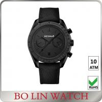 Quality Stainless Steel Sports Watch leather strap black case oem 5atm for sale