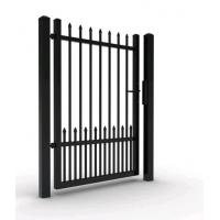 Quality Singal gate aluminum fence gate with top ornament for sale
